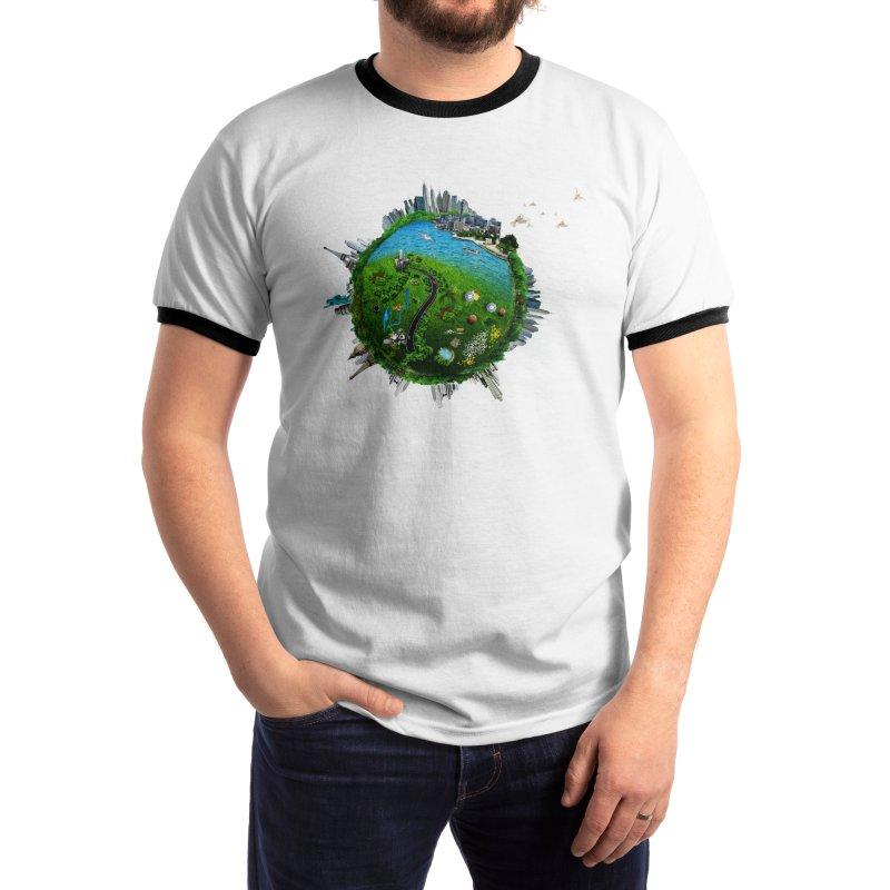Earth Globe Men's T-Shirt by cutelucu's Artist Shop