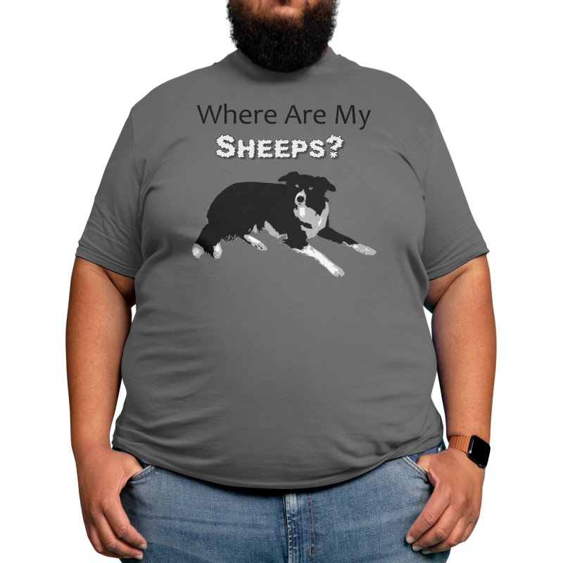 Where Are My Sheeps? Men's T-Shirt by Cute 'n Canine