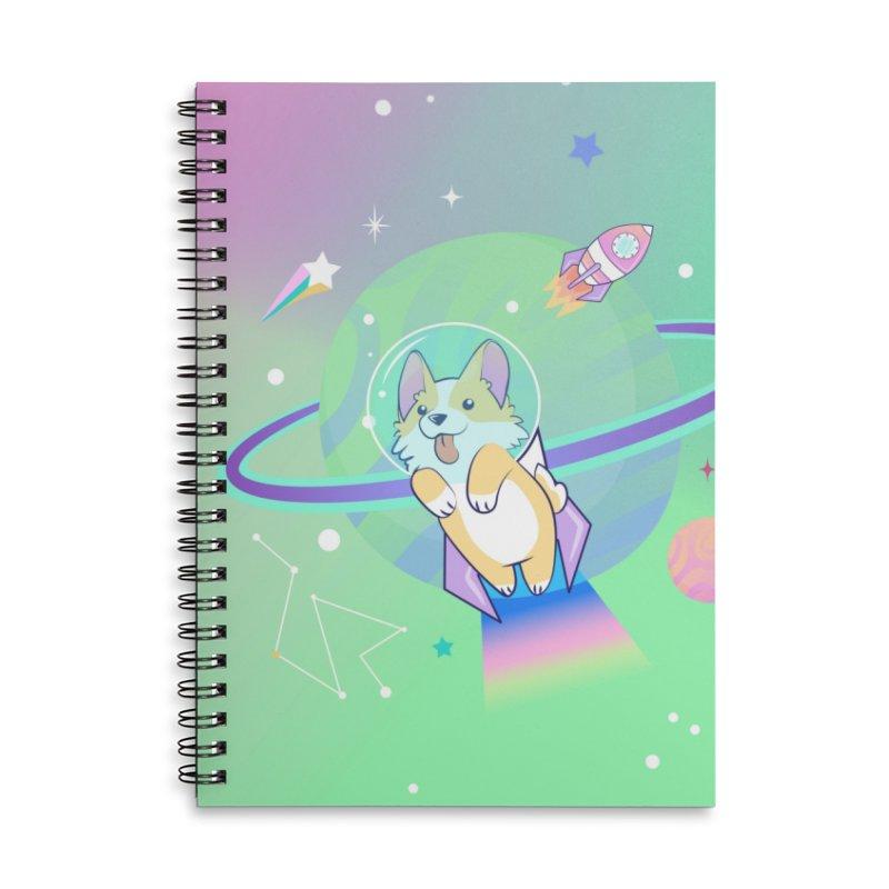 Cosmic Canine (Corgi) Accessories Notebook by Cute 'n Canine