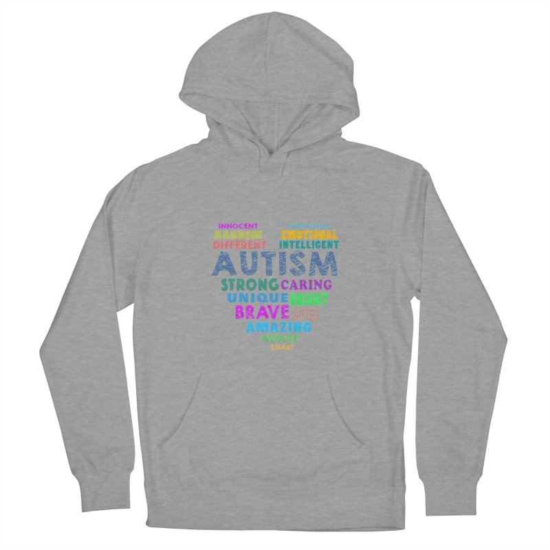 Hearty Words Men's French Terry Pullover Hoody by Coachella Valley Autism Society of America