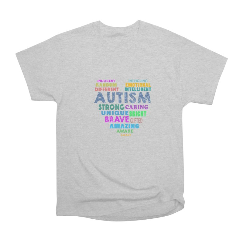 Hearty Words Women's Heavyweight Unisex T-Shirt by Coachella Valley Autism Society of America