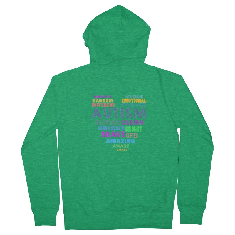 Hearty Words Men's Zip-Up Hoody by Coachella Valley Autism Society of America