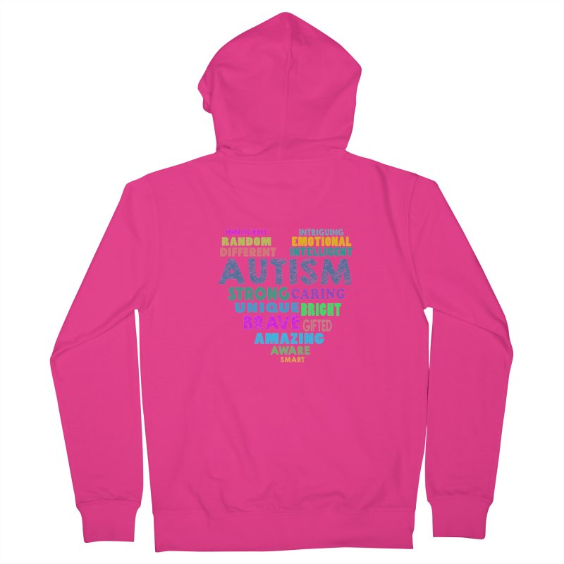 Hearty Words Men's French Terry Zip-Up Hoody by Coachella Valley Autism Society of America