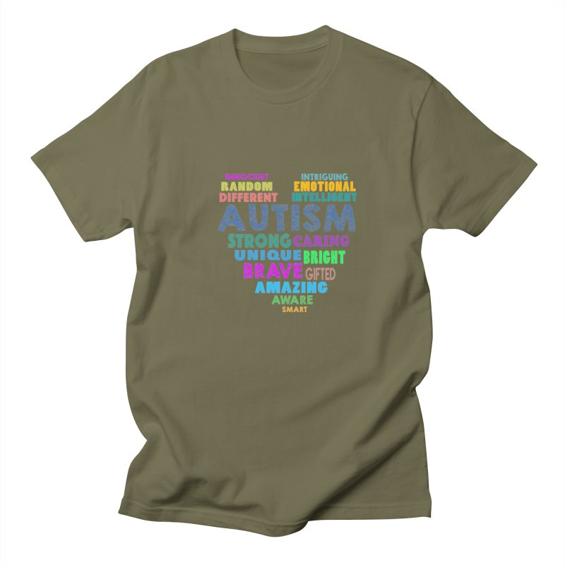 Hearty Words Men's Regular T-Shirt by Coachella Valley Autism Society of America