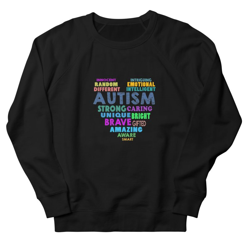 Hearty Words Men's French Terry Sweatshirt by Coachella Valley Autism Society of America