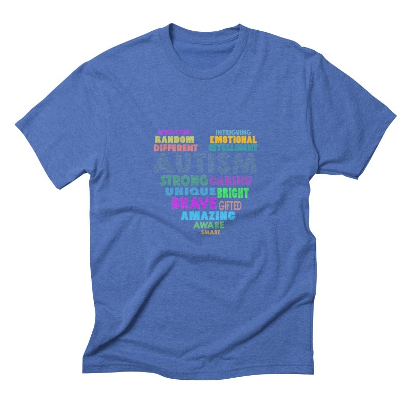 Hearty Words Men's Triblend T-Shirt by Coachella Valley Autism Society of America