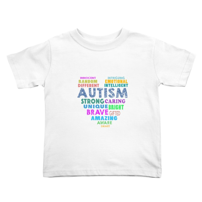 Hearty Words Kids Toddler T-Shirt by Coachella Valley Autism Society of America
