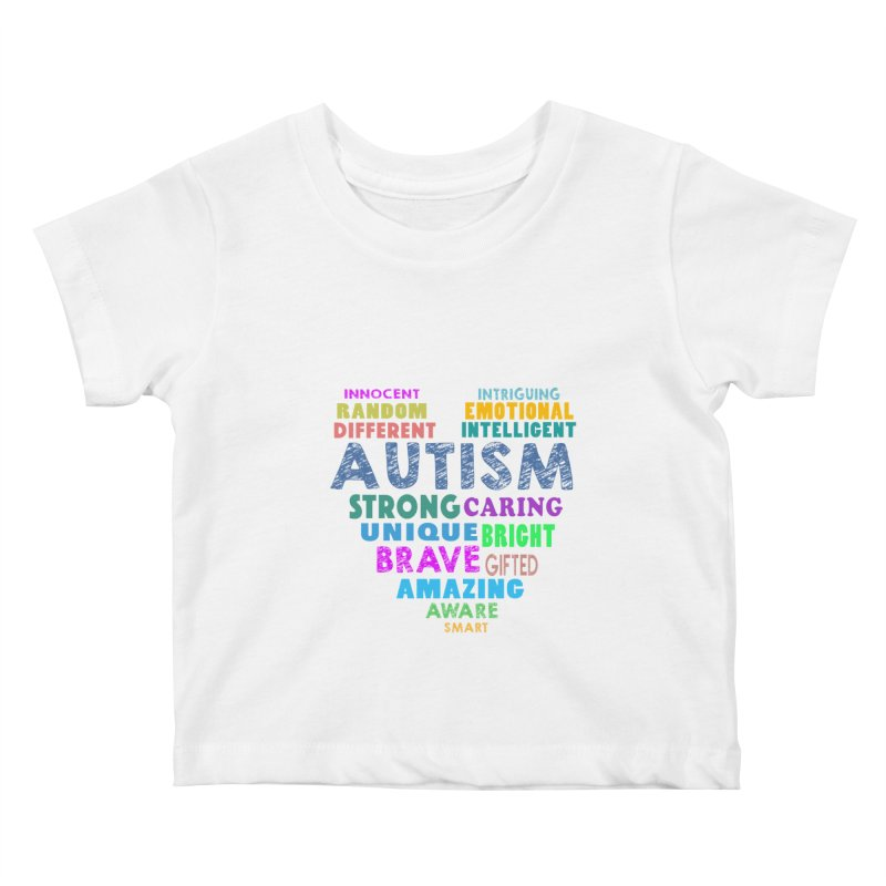 Hearty Words Kids Baby T-Shirt by Coachella Valley Autism Society of America
