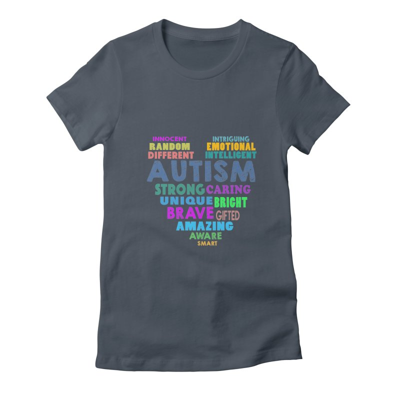 Hearty Words Women's T-Shirt by Coachella Valley Autism Society of America