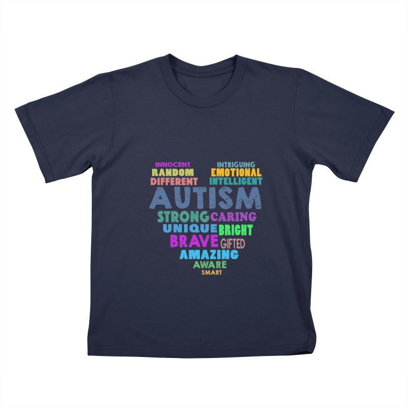 Hearty Words Kids T-Shirt by Coachella Valley Autism Society of America