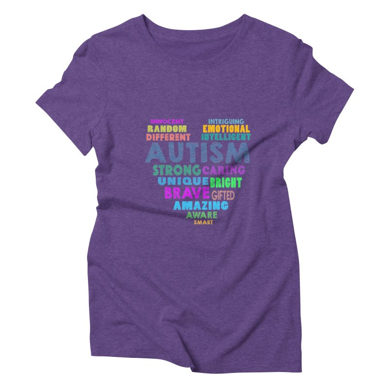 Hearty Words Women's Triblend T-Shirt by Coachella Valley Autism Society of America