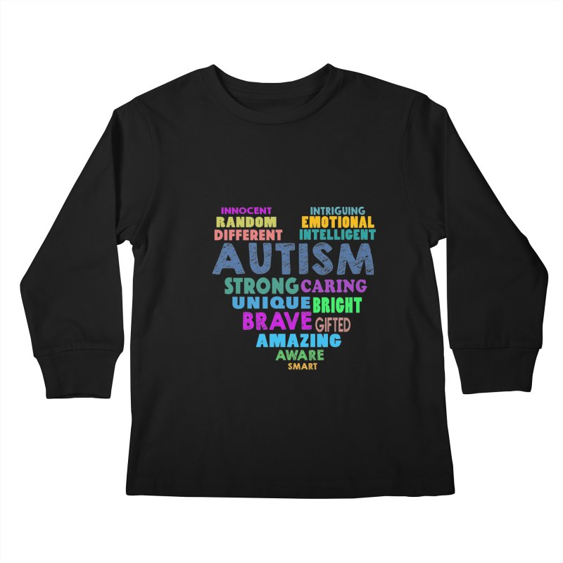 Hearty Words Kids Longsleeve T-Shirt by Coachella Valley Autism Society of America
