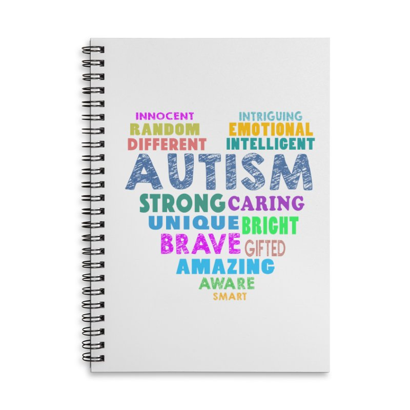 Hearty Words Accessories Lined Spiral Notebook by Coachella Valley Autism Society of America