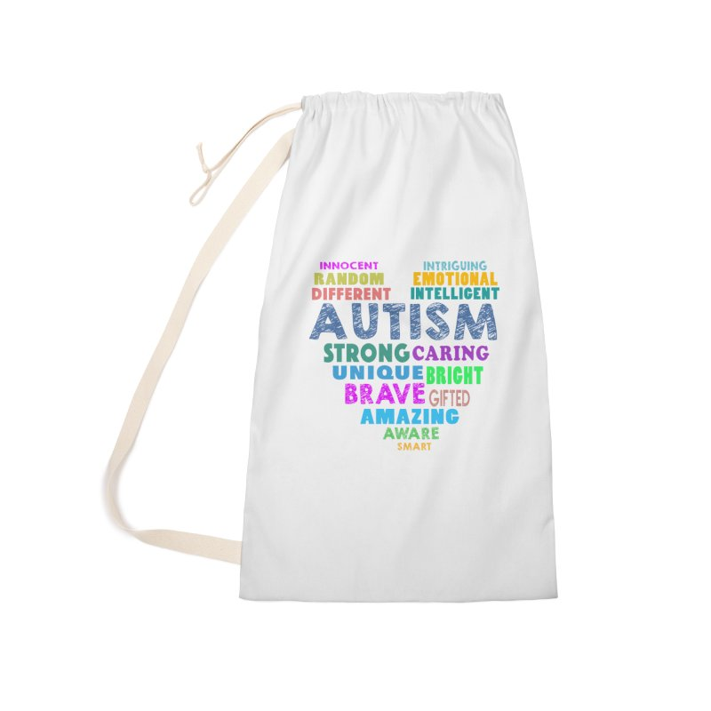 Hearty Words Accessories Laundry Bag Bag by Coachella Valley Autism Society of America
