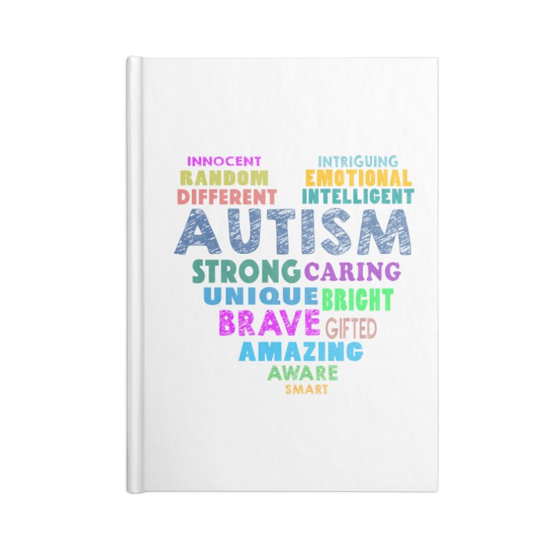 Hearty Words Accessories Lined Journal Notebook by Coachella Valley Autism Society of America
