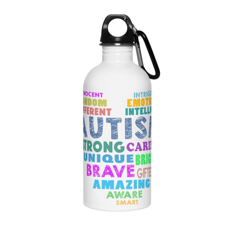 Hearty Words Accessories Water Bottle by Coachella Valley Autism Society of America