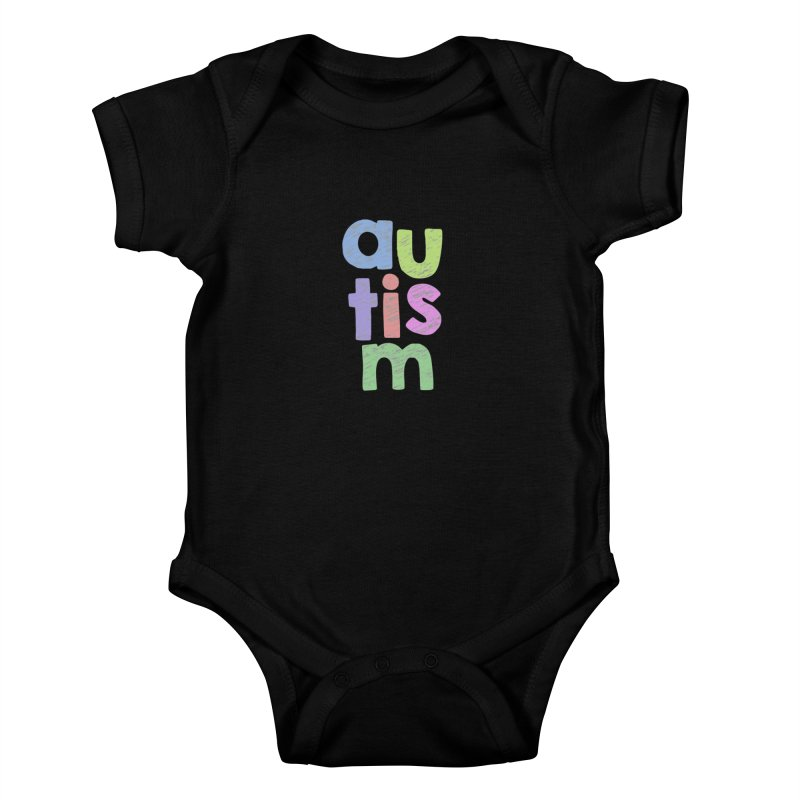 Letters Stacked Kids Baby Bodysuit by Coachella Valley Autism Society of America