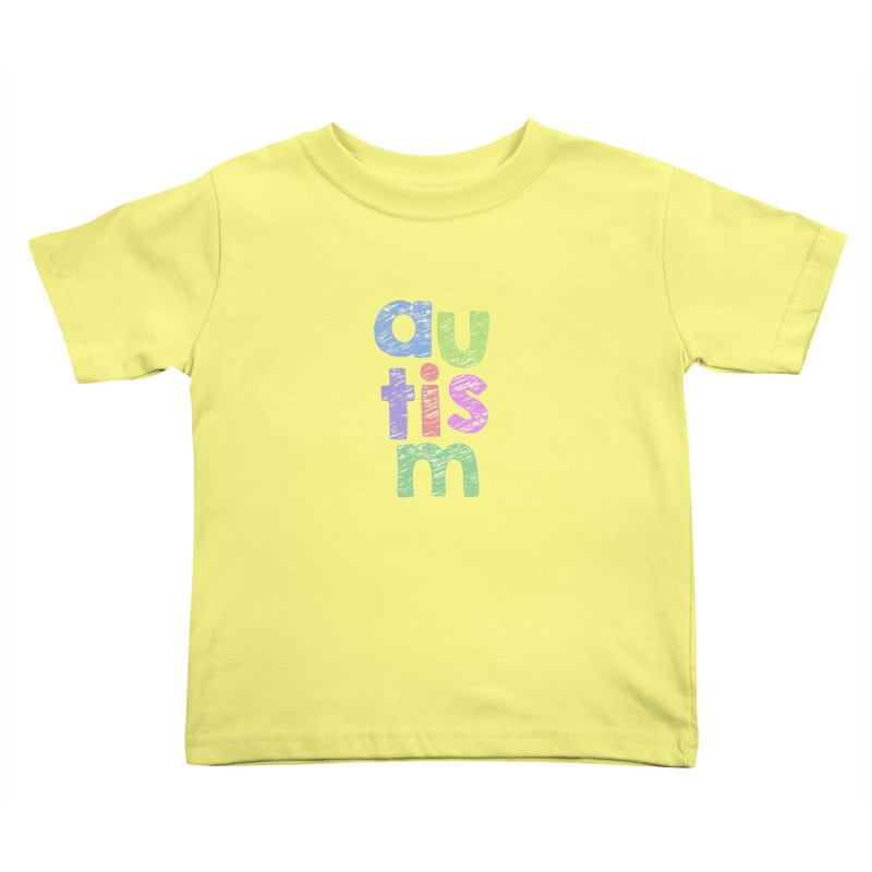 Letters Stacked Kids Toddler T-Shirt by Coachella Valley Autism Society of America