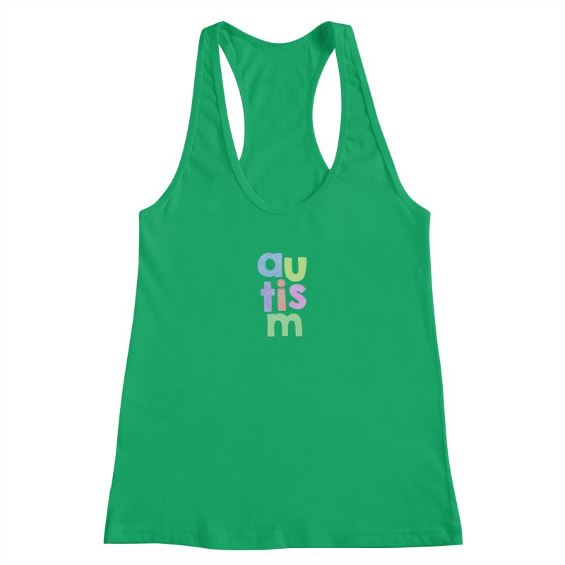 Letters Stacked Women's Tank by Coachella Valley Autism Society of America