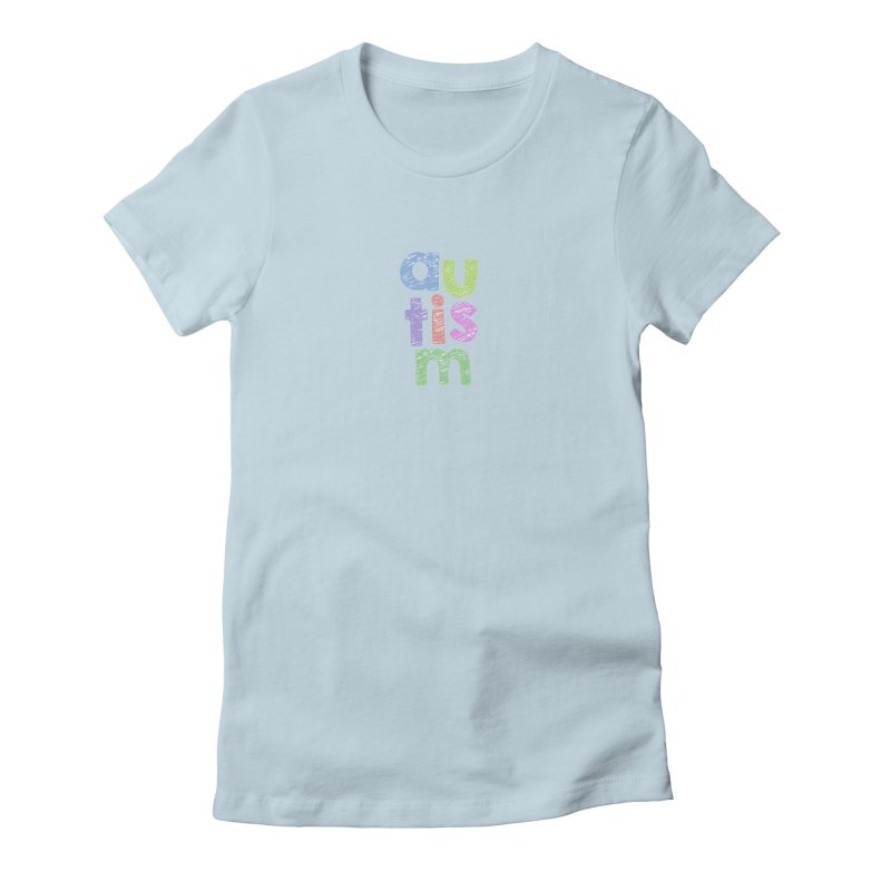 Letters Stacked Women's T-Shirt by Coachella Valley Autism Society of America