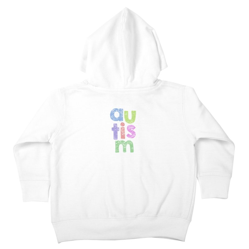 Letters Stacked Kids Toddler Zip-Up Hoody by Coachella Valley Autism Society of America
