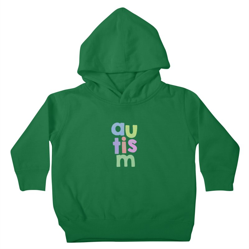 Letters Stacked Kids Toddler Pullover Hoody by Coachella Valley Autism Society of America