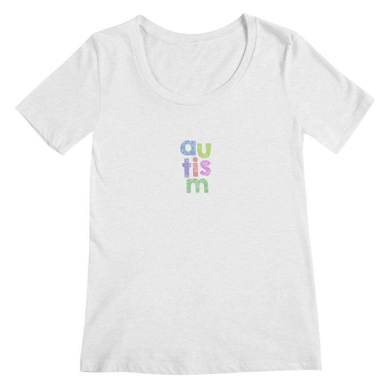 Letters Stacked Women's Regular Scoop Neck by Coachella Valley Autism Society of America