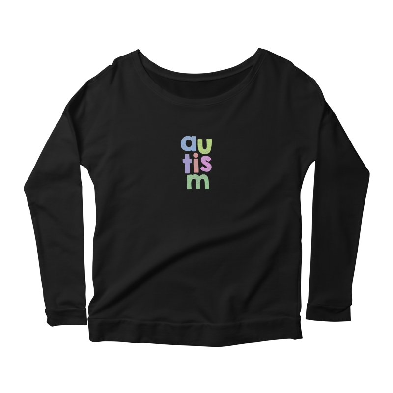 Letters Stacked Women's Scoop Neck Longsleeve T-Shirt by Coachella Valley Autism Society of America
