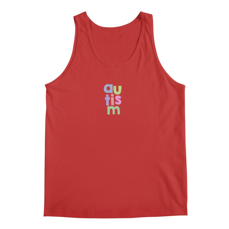 Letters Stacked Men's Regular Tank by Coachella Valley Autism Society of America