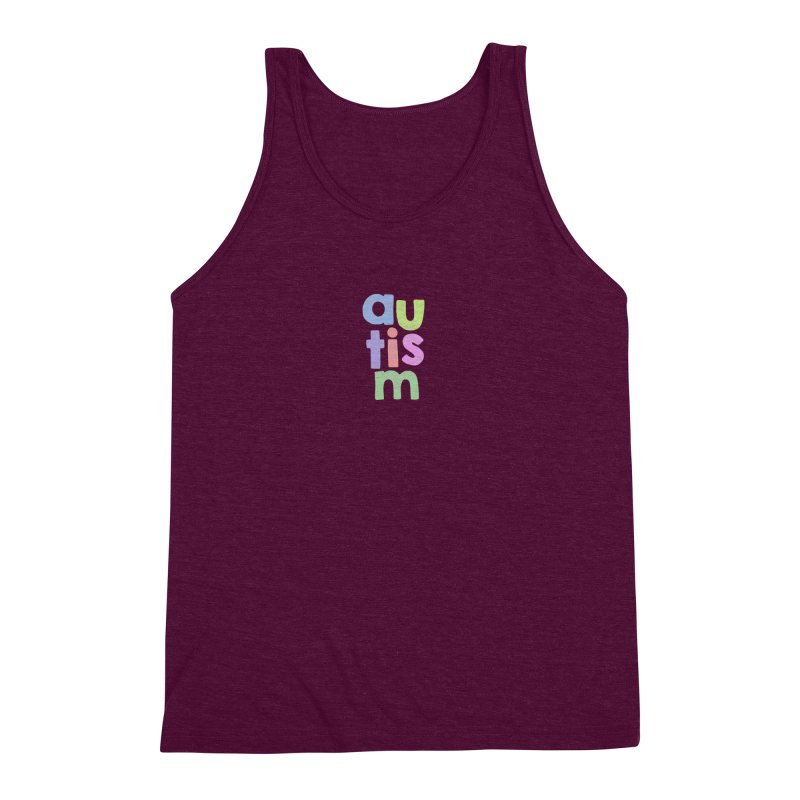 Letters Stacked Men's Triblend Tank by Coachella Valley Autism Society of America