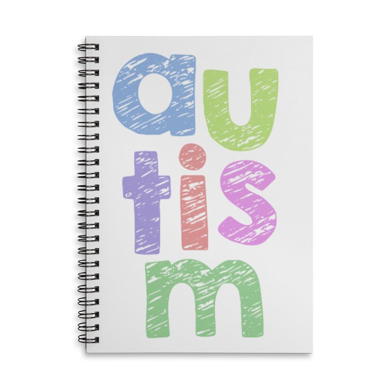 Letters Stacked Accessories Lined Spiral Notebook by Coachella Valley Autism Society of America