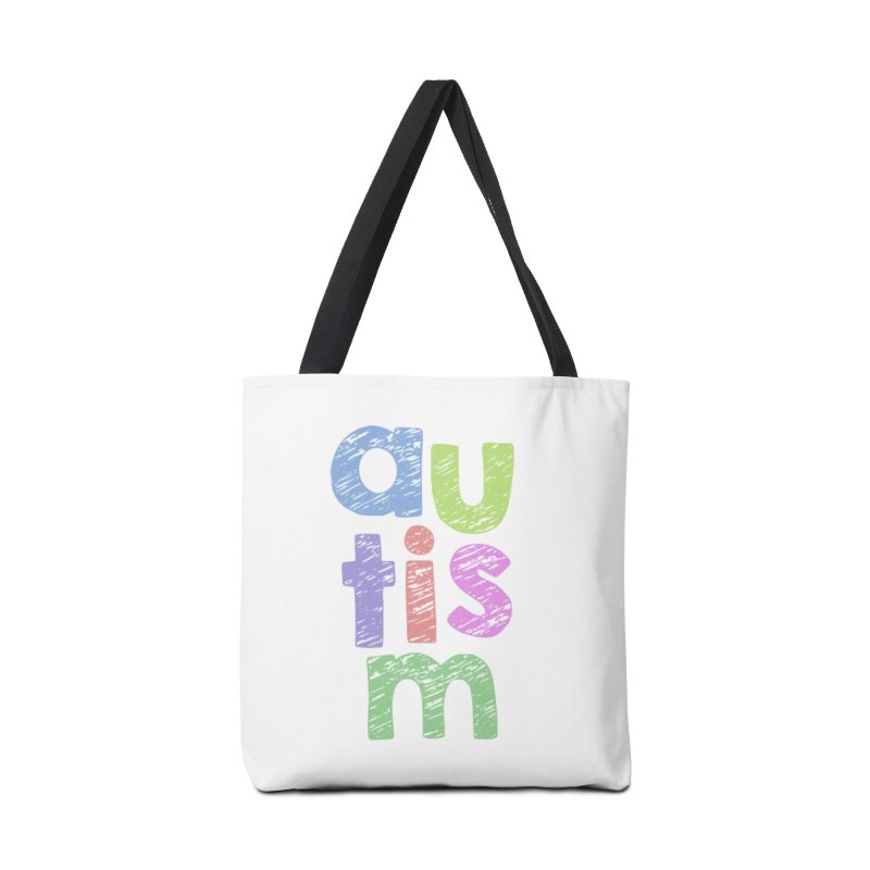 Letters Stacked Accessories Tote Bag Bag by Coachella Valley Autism Society of America