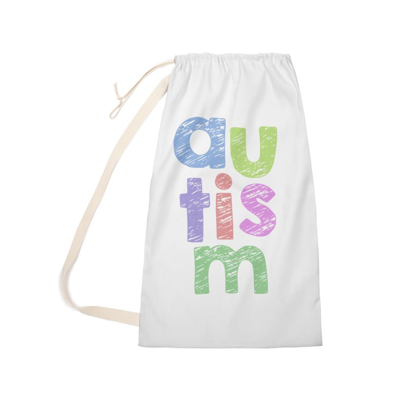 Letters Stacked Accessories Laundry Bag Bag by Coachella Valley Autism Society of America