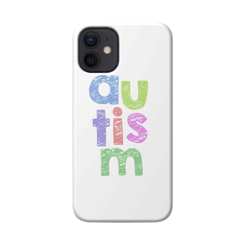 Letters Stacked Accessories Phone Case by Coachella Valley Autism Society of America