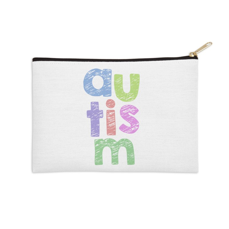 Letters Stacked Accessories Zip Pouch by Coachella Valley Autism Society of America