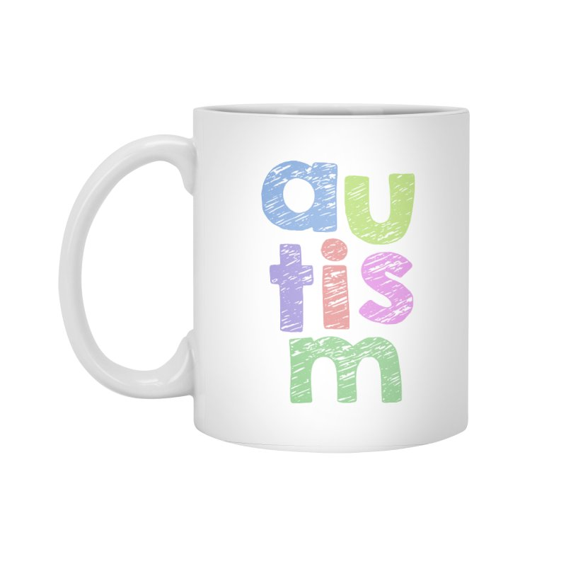Letters Stacked Accessories Standard Mug by Coachella Valley Autism Society of America