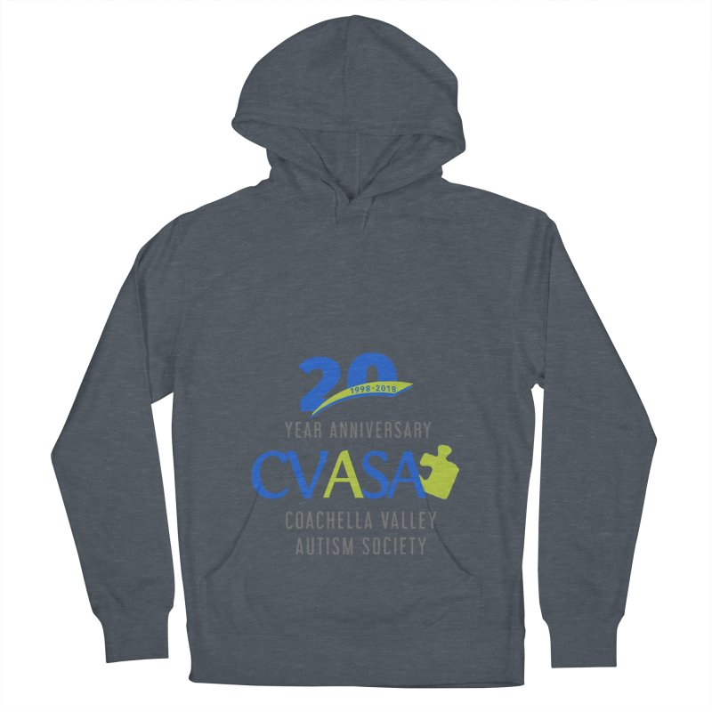 CVASA Logo Men's French Terry Pullover Hoody by Coachella Valley Autism Society of America