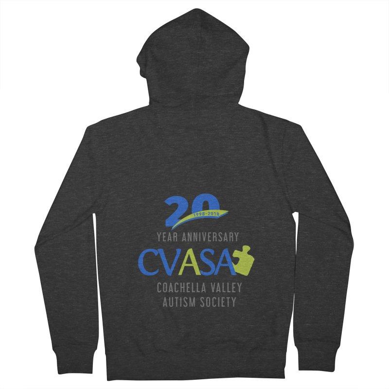 CVASA Logo Women's French Terry Zip-Up Hoody by Coachella Valley Autism Society of America