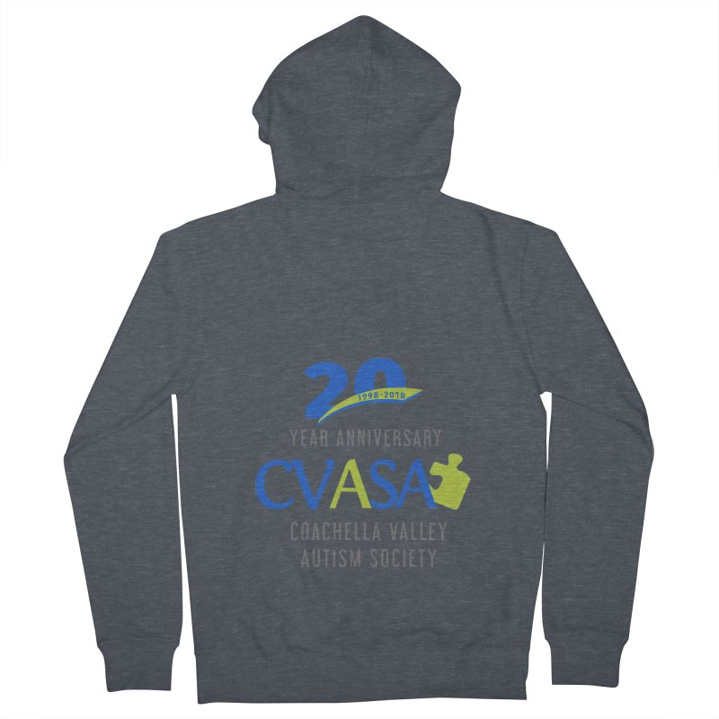 CVASA Logo Women's French Terry Zip-Up Hoody by Coachella Valley Autism Society of America