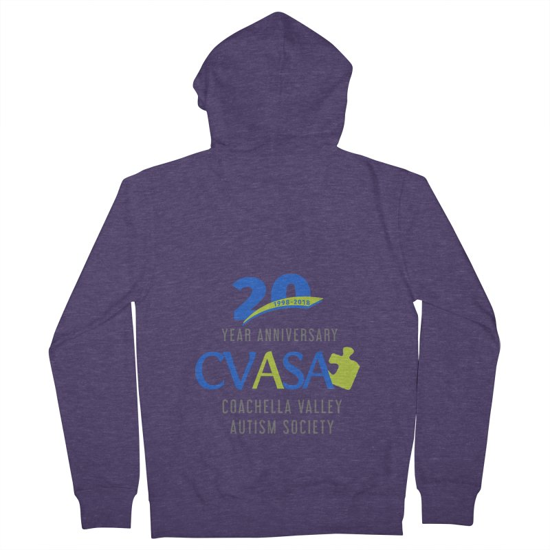 CVASA Logo Men's French Terry Zip-Up Hoody by Coachella Valley Autism Society of America