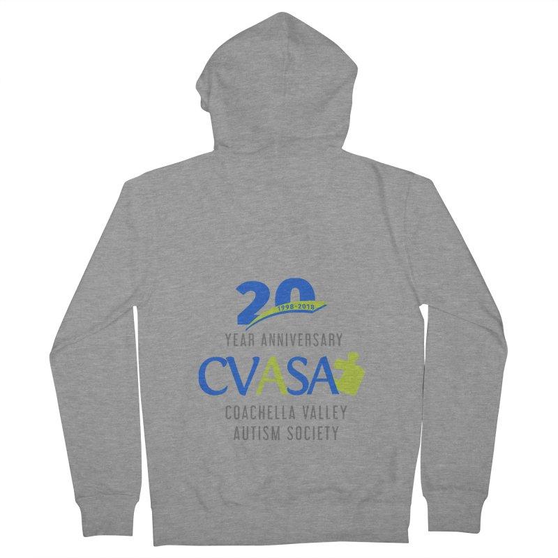 CVASA Logo Men's French Terry Zip-Up Hoody by Coachella Valley Autism Society of America