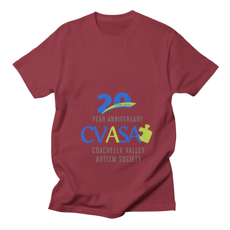 CVASA Logo Men's Regular T-Shirt by Coachella Valley Autism Society of America