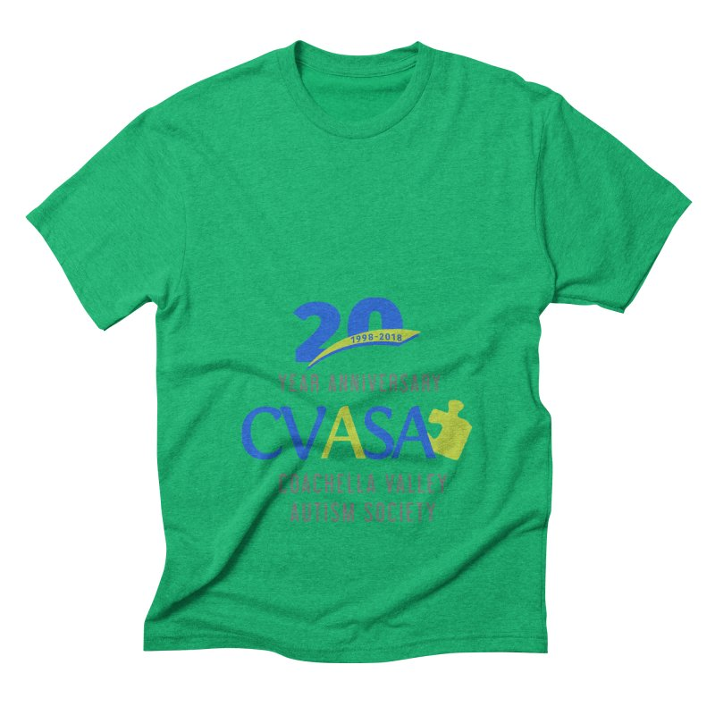 CVASA Logo Men's Triblend T-Shirt by Coachella Valley Autism Society of America
