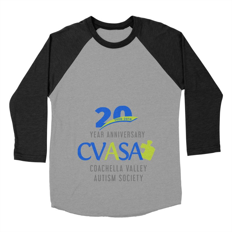 CVASA Logo Women's Baseball Triblend Longsleeve T-Shirt by Coachella Valley Autism Society of America