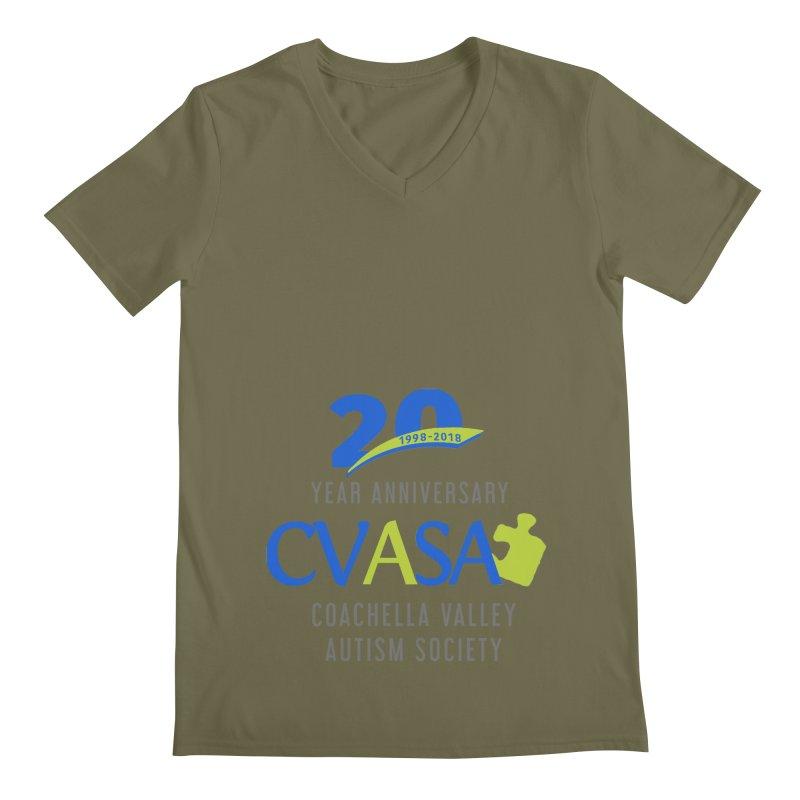 CVASA Logo Men's Regular V-Neck by Coachella Valley Autism Society of America