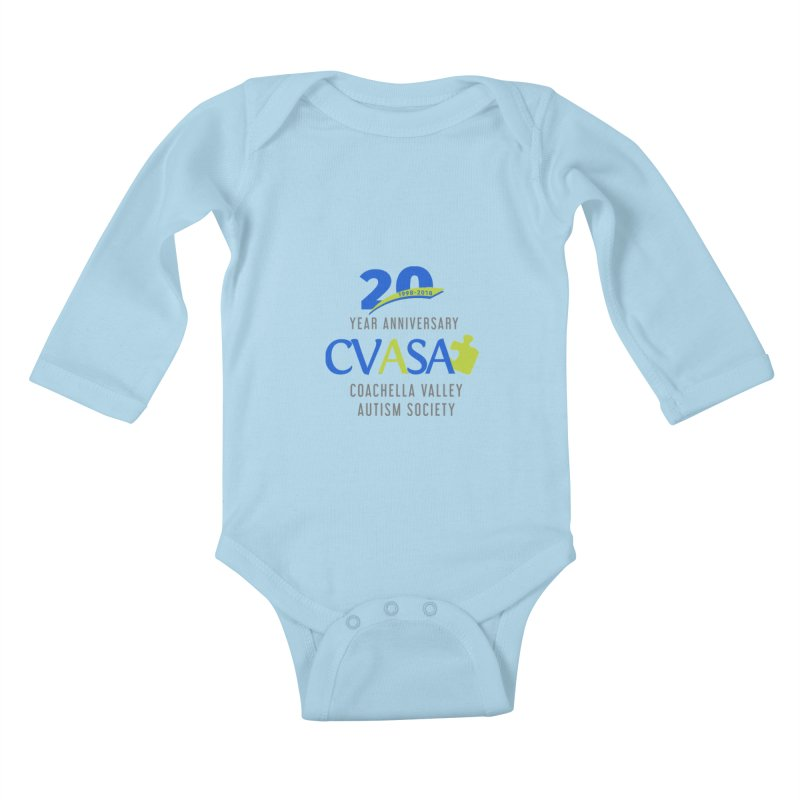 CVASA Logo Kids Baby Longsleeve Bodysuit by Coachella Valley Autism Society of America