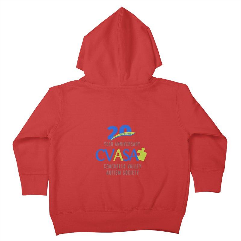 CVASA Logo Kids Toddler Zip-Up Hoody by Coachella Valley Autism Society of America