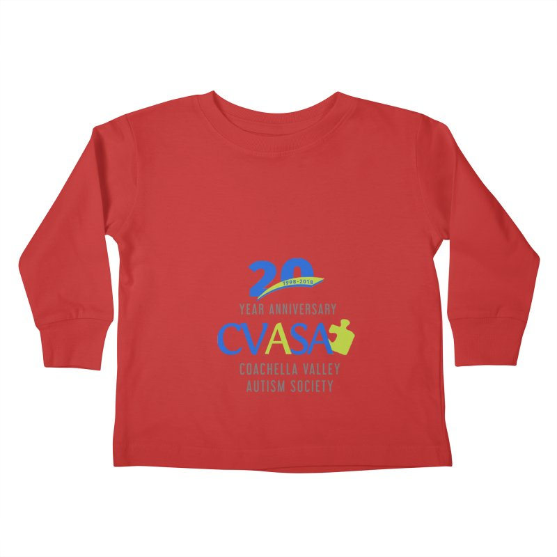 CVASA Logo Kids Toddler Longsleeve T-Shirt by Coachella Valley Autism Society of America