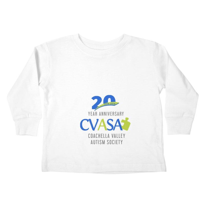 CVASA Logo Kids Toddler Longsleeve T-Shirt by Coachella Valley Autism Society of America