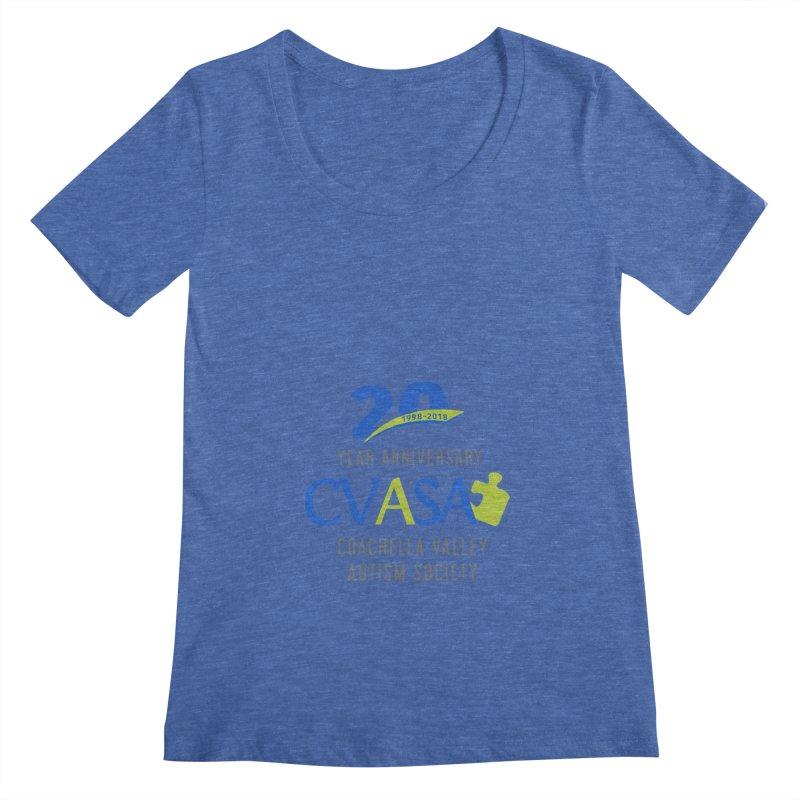 CVASA Logo Women's Regular Scoop Neck by Coachella Valley Autism Society of America